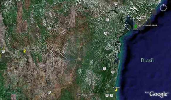 Salvador mapa