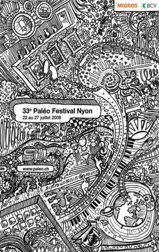 El afichhe de Paléo 2008.
