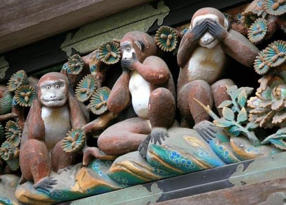 Monos asistiendo a la Olimp�adas en China.
