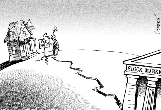 La economia en breve. © Chappatte