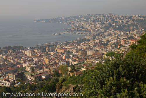 Vista del Golfo de Nápoles desde el Vomero.