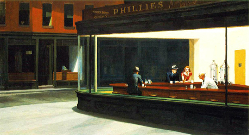 Nighthawks. Edward Hopper.