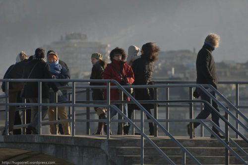 El frio viento (bise) azota Ginebra.