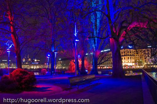 Centro de Ginebra en visperas de Navidad.
