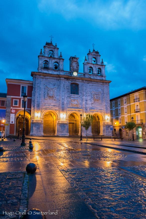 Iglesia de Orduña, Pais Vasco español.