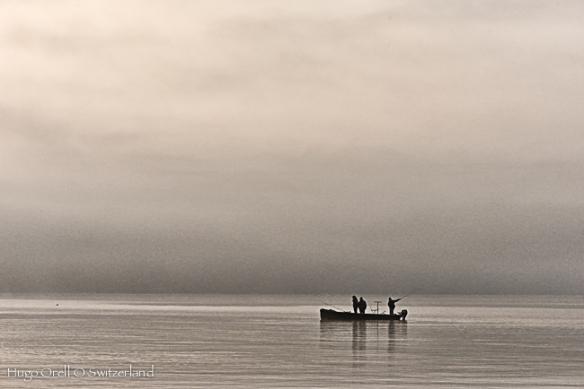 Pesca en el lago.