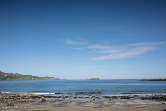 Vista de la playa de Staffin